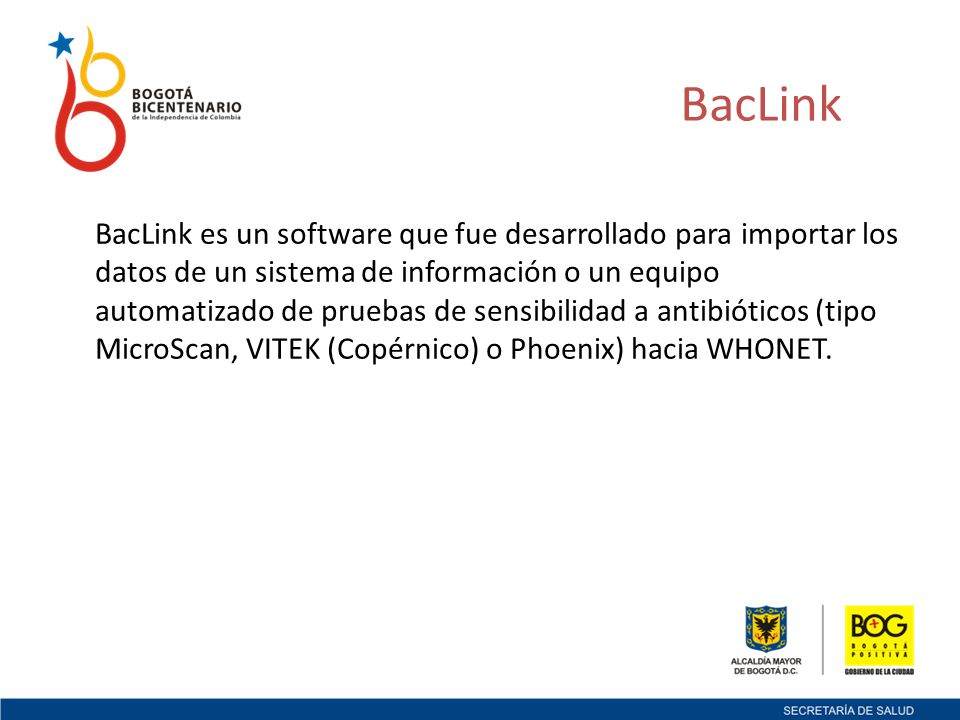 Instalación de Whonet El Software Whonet es compatible con los sistemas operativos: Windows 2000Windows XP Windows VistaWindows 7 Windows Server 2003Windows Server 2008
