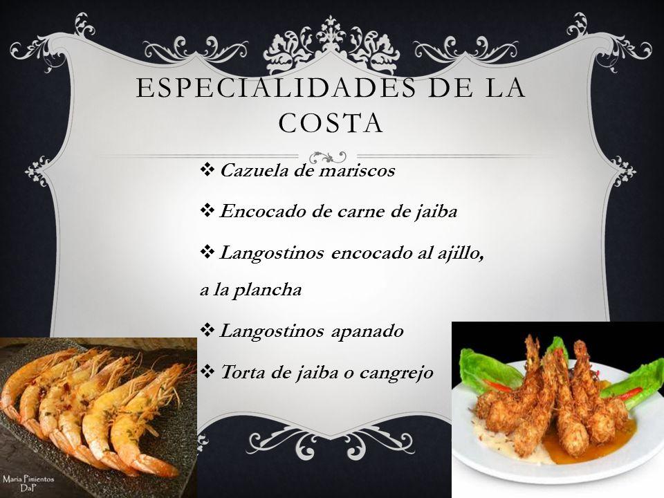 VARIEDAD EN PESCADOS Pescado encocado Pescado frito Lisa y Pelada, frita o encocada Pargo frito y encocado Sancocho de pescado Tapado de pescado