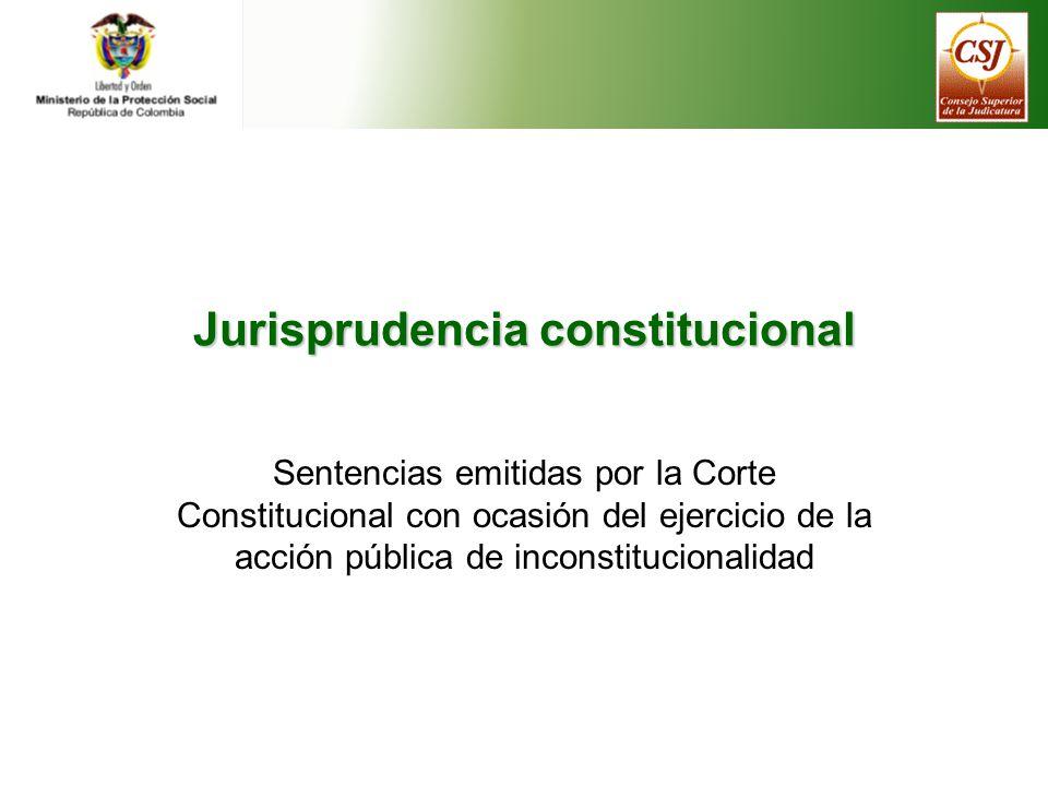 Jurisprudencia constitucional sobre la ley habilitante, esto es, artículo 139 de la Ley 100 de 1993 (Sentencias C-376 de 1995, C-164 de 2000, C- 452 de 2002, C-1152 de 2005 y C-858 de 2006).