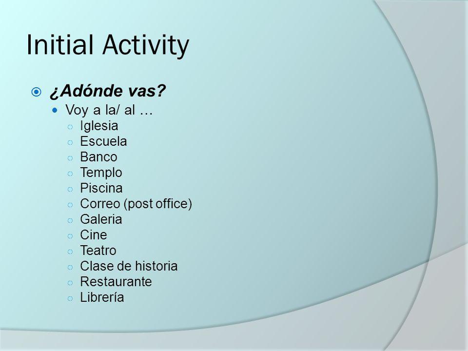 Goals/ Metas de Hoy Centros de repasar 3 Learning centers… Vocabulary (go fish---vete a pescar) Verb conjugation (present tense -AR verbs) IR---images and sentences---