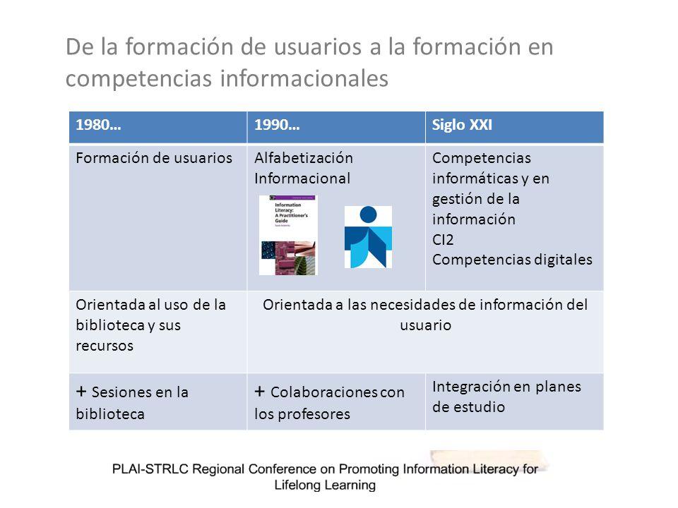 La Formación de Usuarios clásica consiste en sencillas charlas orientadas a la búsqueda de información y tras ellas apenas hay seguimiento del aprendizaje.