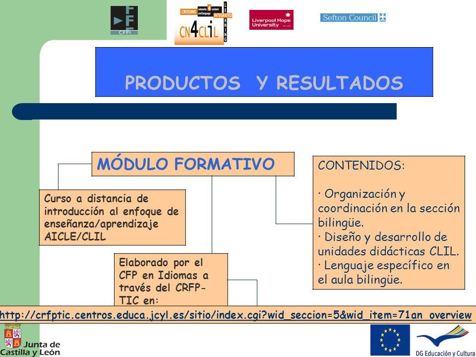 PRODUCTOS Y RESULTADOS PROGRAMA PARA MAESTROS BRITÁNICOS EN CENTROS ESPAÑOLES: combinación de job shadowing con clases de español DOS SEMANASUNA SEMANA MAESTROS DE SEFTON