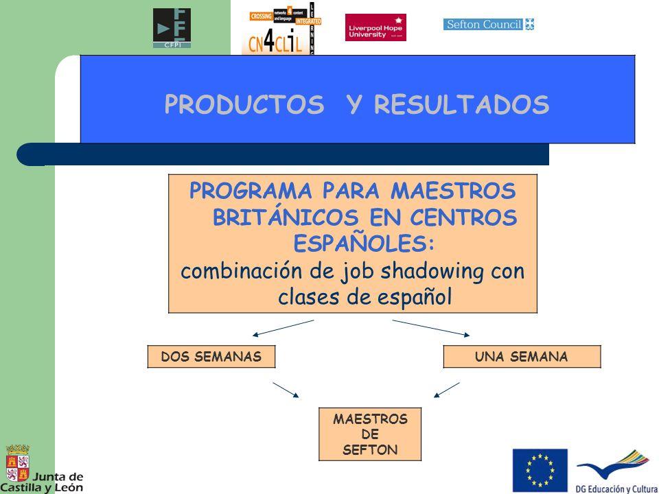 PRODUCTOS Y RESULTADOS INTERCAMBIO ALUMNOS DE PRIMARIA LANDER ROAD SCHOOL, Sefton SAINT NICHOLAS SCHOOL, Sefton CEIP LA CANDELARIA, Zamora CRA LAS CAÑADAS, Fuentepelayo, Segovia Fechas: 23-27 mayo, 2011 Fechas: Octubre, 2011 Lugar: CRIE DE ZAMORA Lugar: CENTRO DE ALUMNOS DE SEFTON Lugar: CRIE DE FUENTEPELAYO Segovia IDA VUELTA