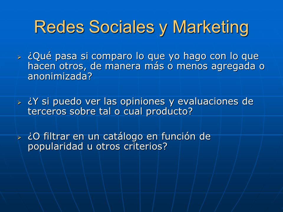 Redes Sociales y Marketing Dos de cada tres internautas reconocen que las utilizan para realizar recomendaciones sobre marcas.