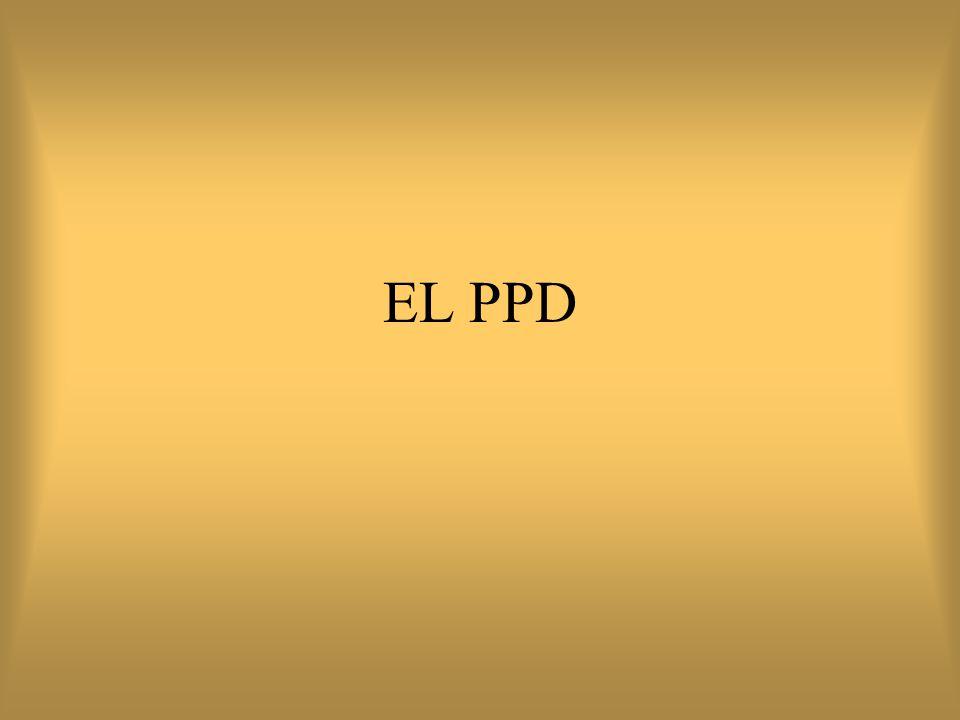 Indicaciones del PPD Estudio de contactos Apoyo al diagnóstico diferencial de tuberculosis (coccidioidomicosis) Estudios epidemiológicos