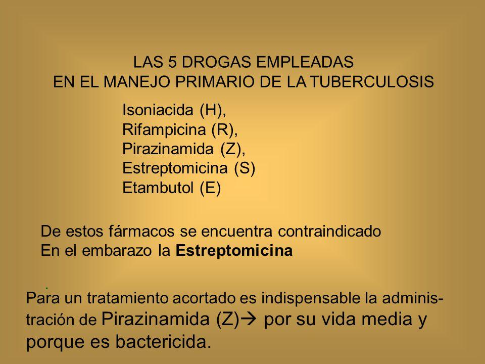 ¿En quienes esta indicada la dosis estándar (*) de antifimicos (Rifater, Rifinah).