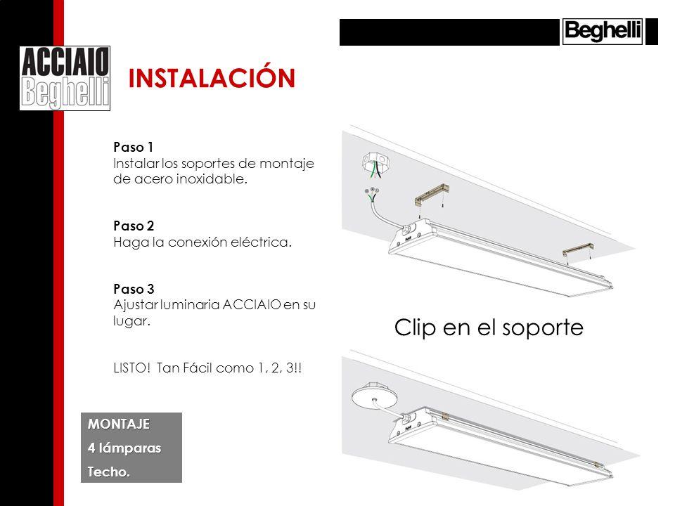 MANTENIMIENTO DE LÁMPARAS.Desconecte el luminario del soporte de montaje.