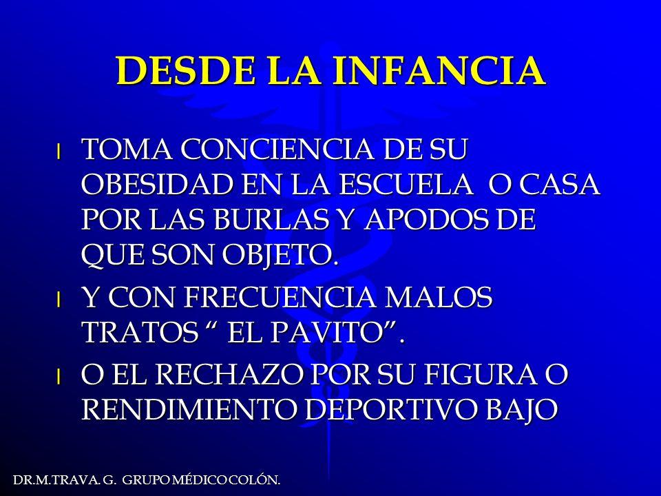 DR.M.TRAVA.G. GRUPO MÉDICO COLÓN. EN LA INFANCIA TOMA CONCIENCIA...