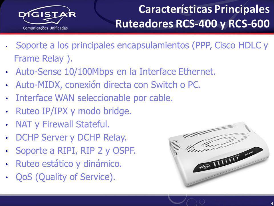5 VLAN (802.1Q).VPN (Virtual Private Network). Soporte Dial-Backup a través del Puerto Auxiliar.