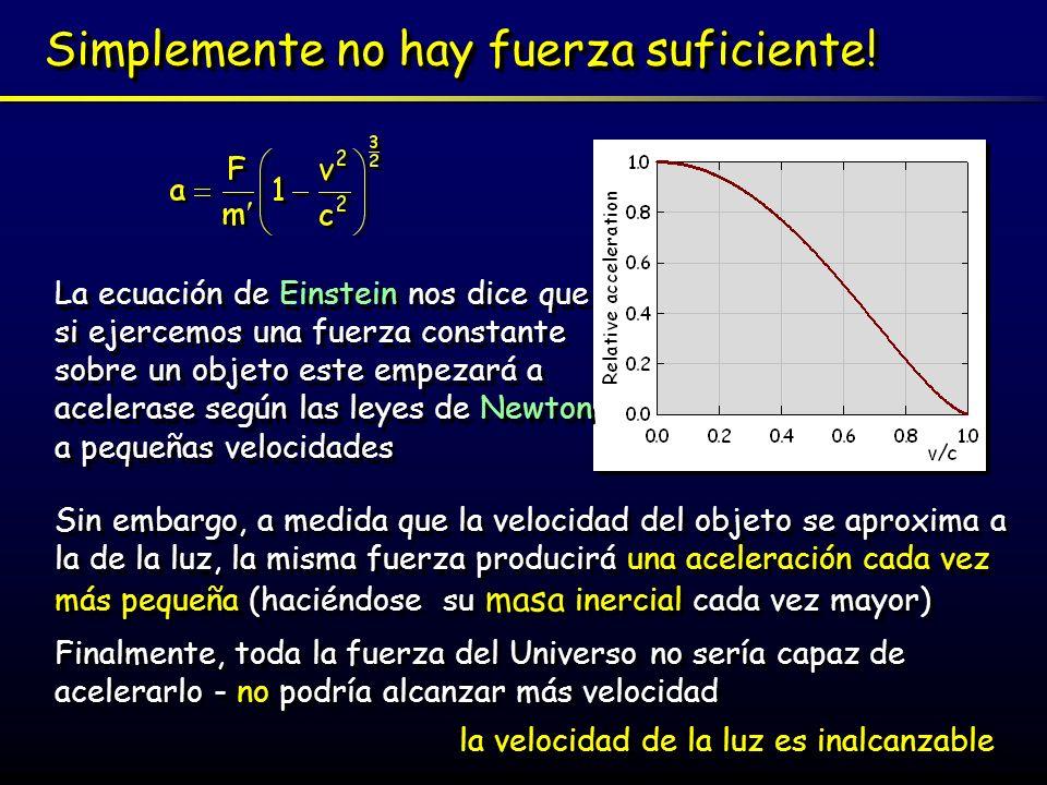 Fuerza y trabajo Cuando ejercemos una fuerza F sobre un objeto a una distancia dada d, hacemos un trabajo (W=F d) sobre el objeto.
