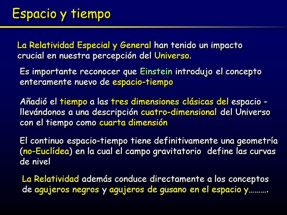 ResumenResumen La teoría prueba que nuestra percepción del tiempo, la longitud y la masa depende completamente de nuestro sistema de referencia La Teoría Especial de la Relatividad de Einstein (1905) considera sistemas de referencias moviéndose a una velocidad constante relativa unos con respecto a los otros.