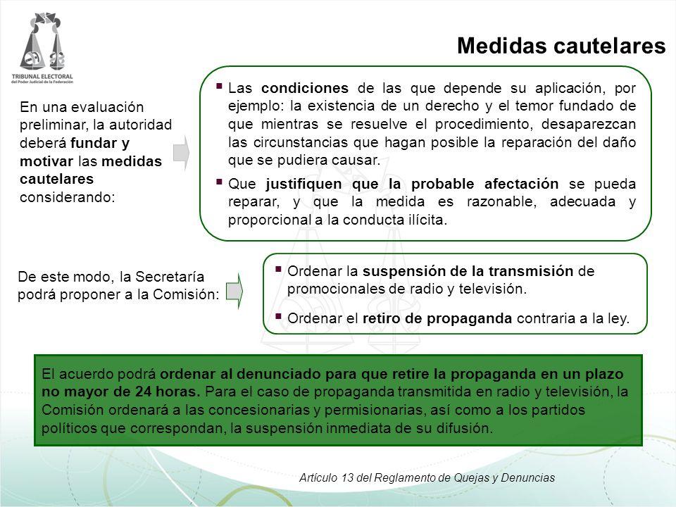 MEDIDAS CAUTELARES EN ELECCIONES LOCALES.