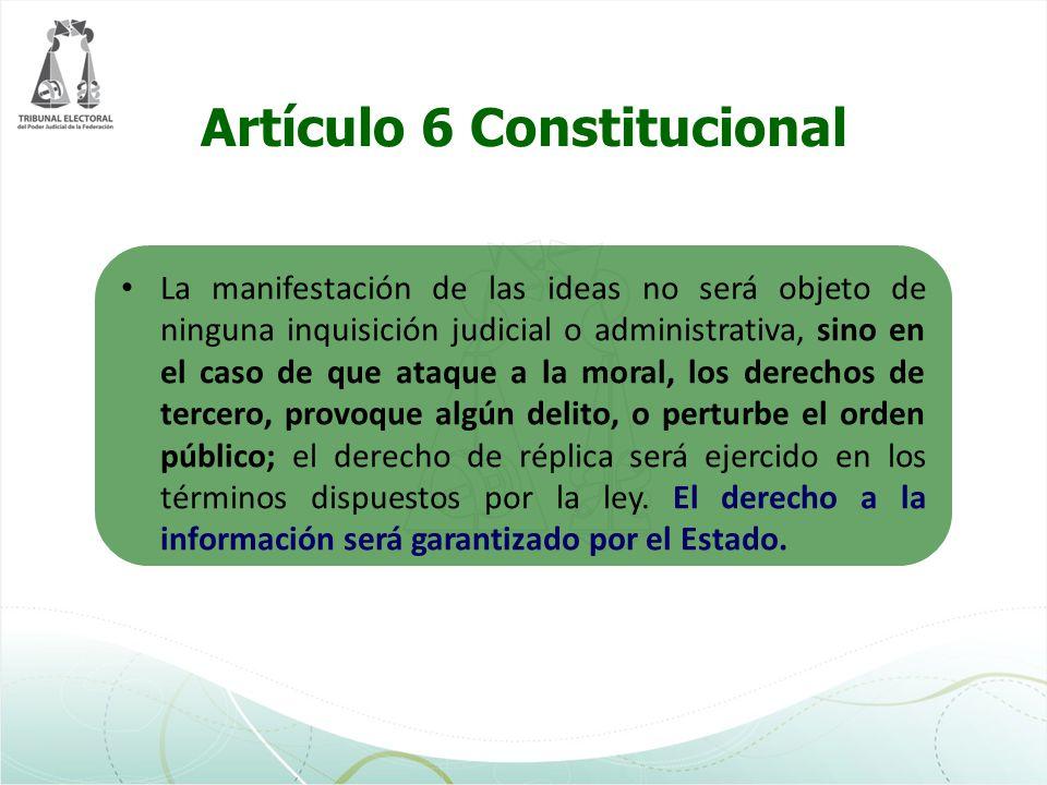 Artículo 7 Constitucional Es inviolable la libertad de escribir y publicar escritos sobre cualquier materia.