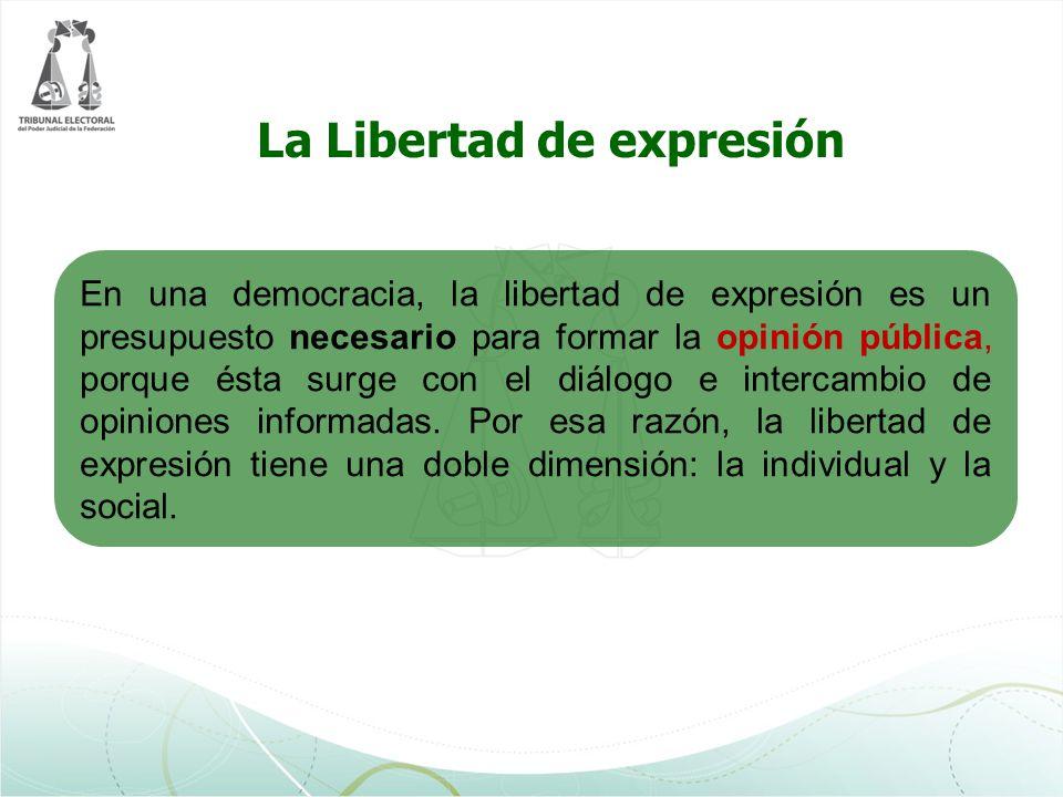 Cuando la libertad de expresión está relacionada con la materia electoral, y en general con los derechos político electorales, su ejercicio debe realizarse de manera armónica con esos derechos, así como con los principios que rigen en la materia, sin que el ejercicio de unos suprima o vaya en contra de otros.