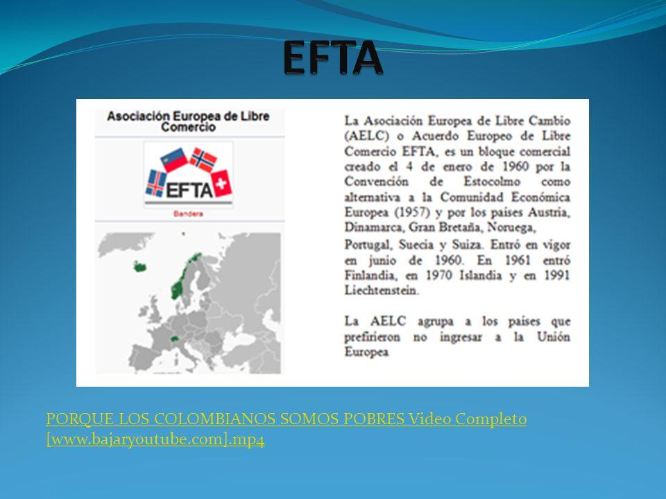 TLC ENTRE COLOMBIA Y EFTA Colombia conjuntamente con Perú iniciaron negociaciones en Mayo de 2006 en Berna Suiza y posteriormente en Bogotá en el año 2007.