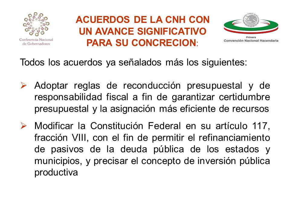 TRABAJOS DE SEGUIMIENTO A LOS ACUERDOS PRIMERA CONVENCION NACIONAL HACENDARIA
