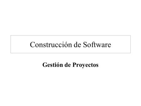 Construcción de Software