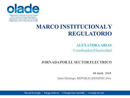MARCO INSTITUCIONAL Y REGULATORIO