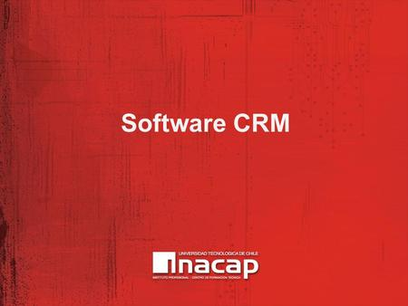Software CRM.