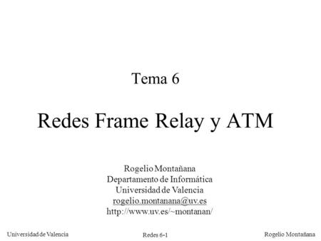 Tema 6 Redes Frame Relay y ATM