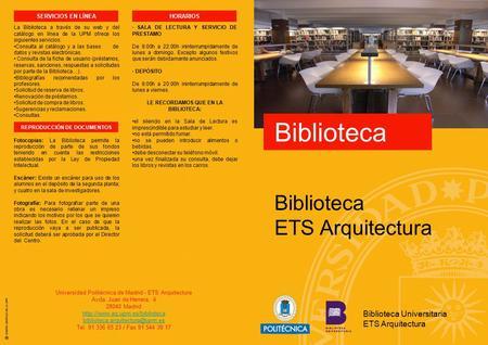 Que es la biblioteca es un sitio de lectura escritura e - Ets arquitectura madrid ...