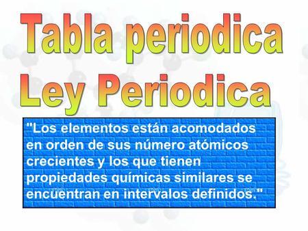 Quimica semana no 1 estructura atmica tabla peridica ppt video tabla periodica ley periodica urtaz Gallery