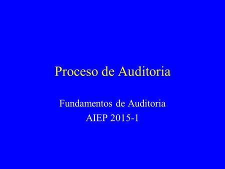 Fundamentos de Auditoria AIEP