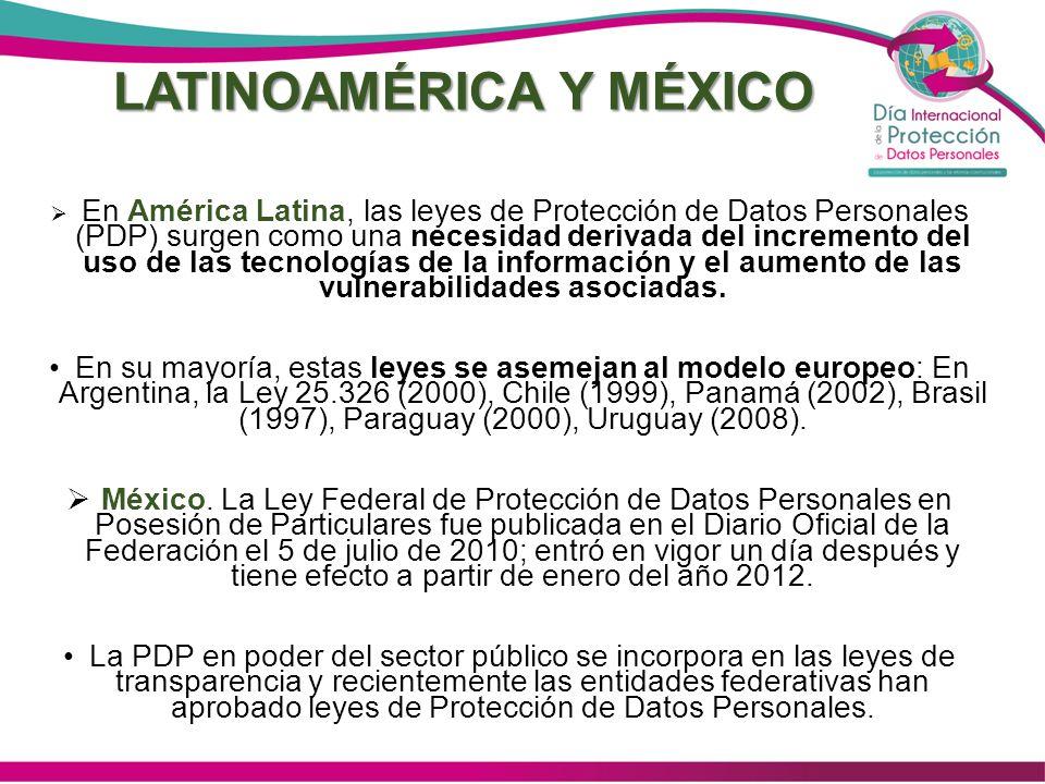 DURANGO 2003 1ª Ley de Transparencia: incluyó el capítulo referente a los Datos Personales.