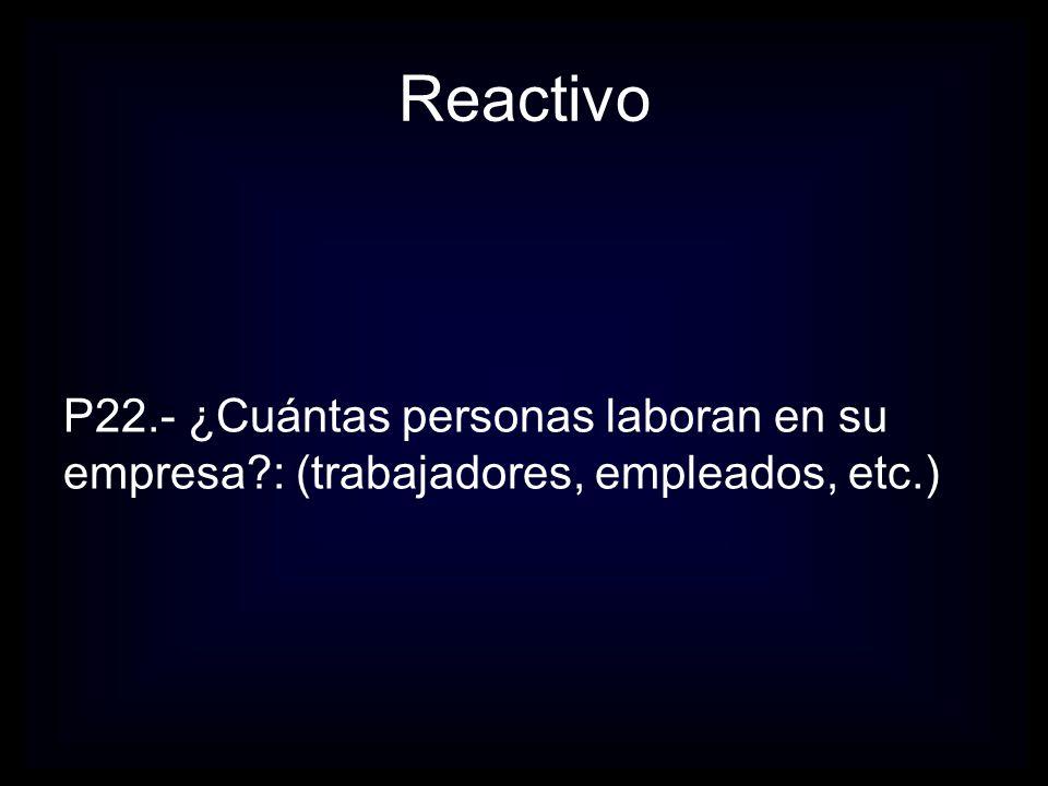 Reactivo P23.- Propiedad