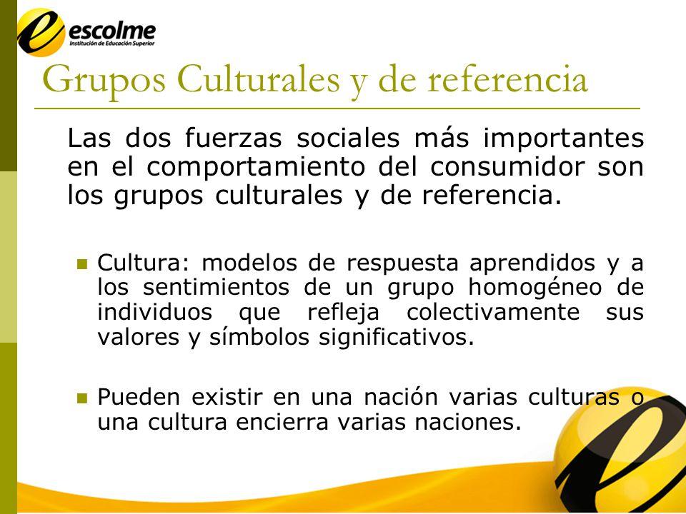 Grupos Culturales y de referencia Factores que diferencian: 1.