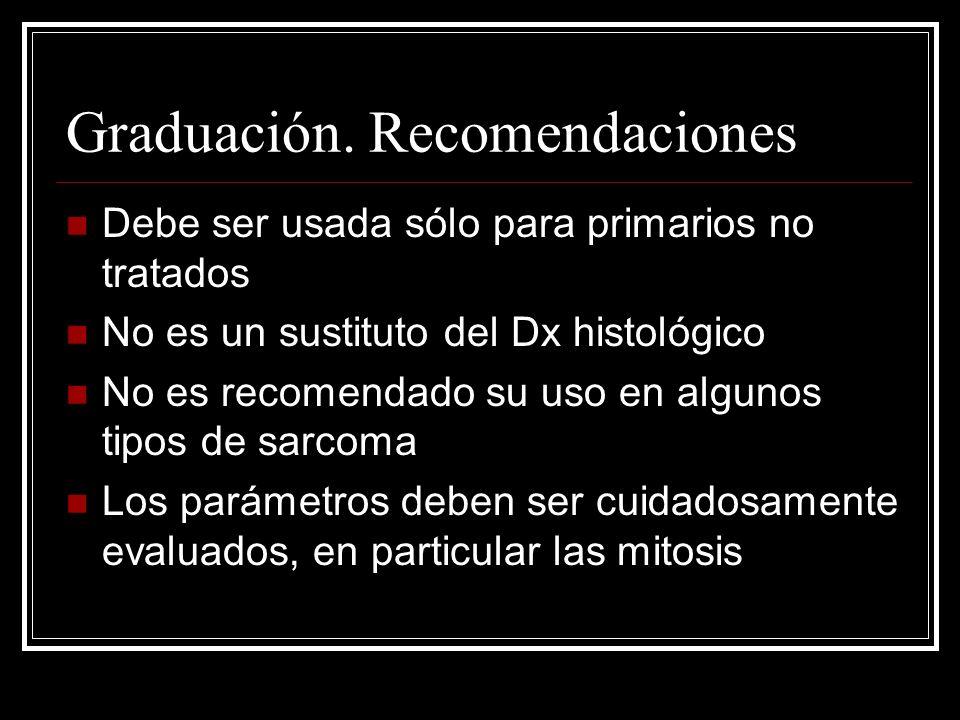Estadiaje Información histológica + clínica Extensión UICC.