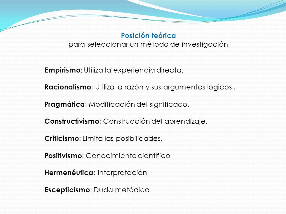 Enfoques Psicológicos desde los que se aborda una investigación Conductista Cognitiva Psicoanalítica Cognitiva-Conductual Industrial o Laboral Educativa Sistémica Social Estructural Analítica Clínica
