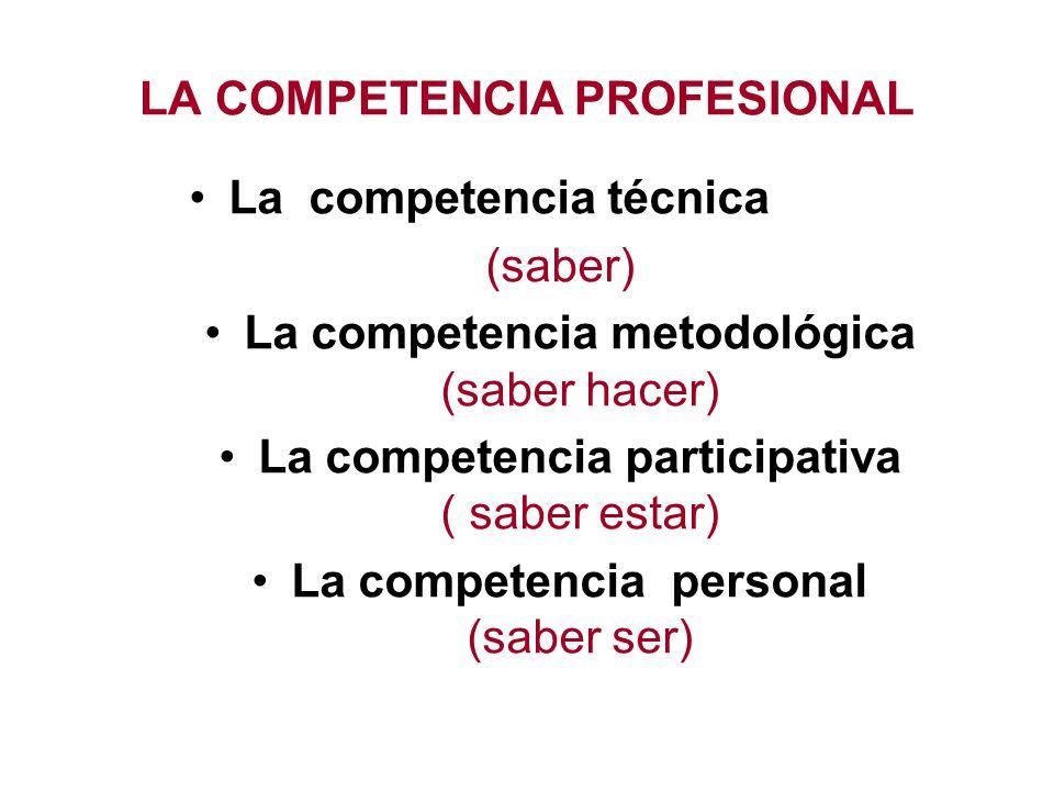La competencia técnica (saber) sería el poseer ciertos conocimientos especializados y relacionados con un ámbito profesional específico y que permitan al trabajador o profesional dominar los contenidos y las tareas propias de su actividad y funciones laborales