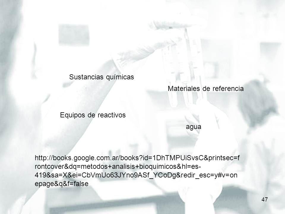 Selección del método de análisis – pg 55 48 http://books.google.com.ar/books?id=hrd7v 5YNo1UC&pg=PA44&lpg=PA44&dq=meto dos+an%C3%A1lisi+bioquimicos&source= bl&ots=gaaMmmcN8G&sig=4vZinLMAyUE 1lWw1RS00Ip3LC9c&hl=es- 419&sa=X&ei=gq9mUreaKMfukQeCroDQ BA&ved=0CCoQ6AEwADgK#v=onepage& q=metodos%20an%C3%A1lisi%20bioquim icos&f=false