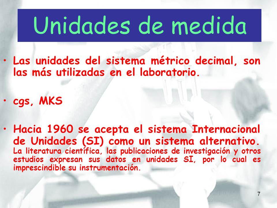 8 MagnitudNombreSímbolo LongitudMetrom MasaKilogramokg TiempoSegundos TemperaturaKelvinK Cantidad de sustanciaMolmol Actividad catalíticaKatalKat VolumenMetro cúbicom3m3 DensidadKilogramo/metro cúbicokg/m 3 VelocidadMetro por segundom/s Concentración de sustancia Mol por metro cúbicomol/m 3 The International System of Units (SI) (8 edición).