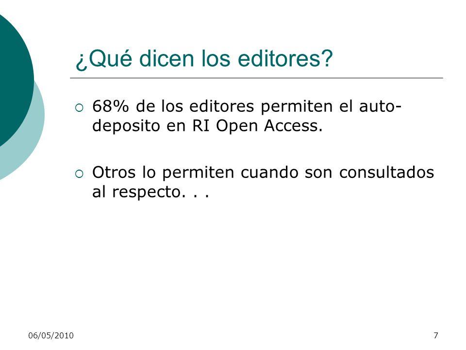 06/05/20108 ¿Qué es un Repositorio Institucional.