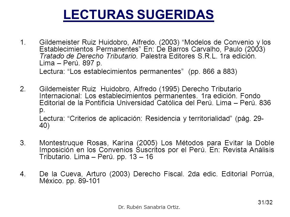 32/32 1.Aguas Alcalde, Emilio (2003) Tributación Internacional de los Rendimientos de Trabajo.