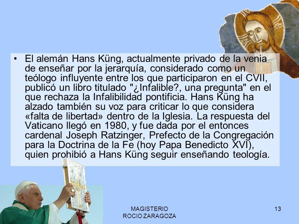MAGISTERIO ROCIO ZARAGOZA 14 Magisterio solemne o extraordinario Magisterio ordinario
