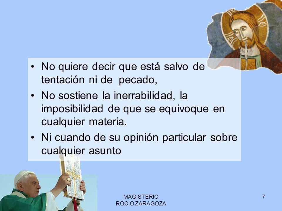 MAGISTERIO ROCIO ZARAGOZA 8 Ej ex cathedra San León I sobre la Encarnación.
