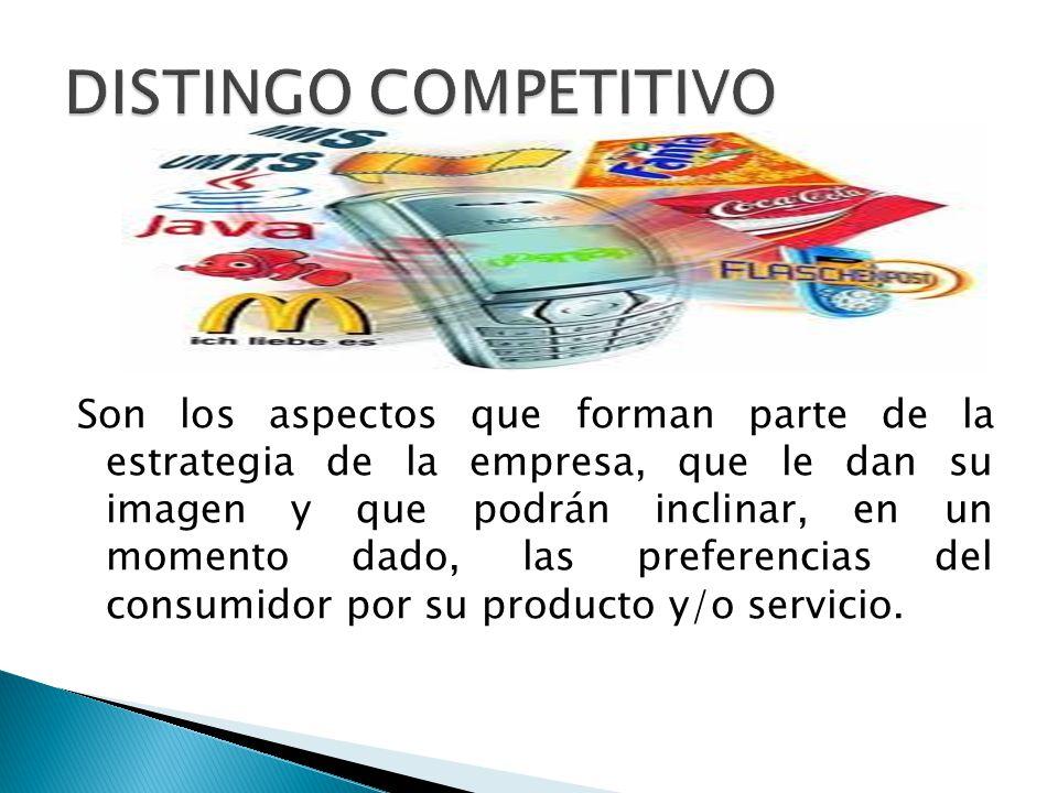 Ejemplos de distingos competitivos Servicio Postventa Sistema de distribución Garantía