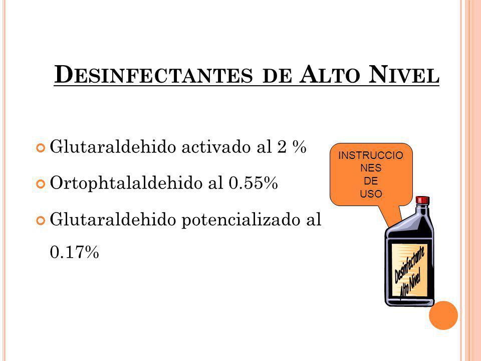 G LUTARALDEHIDO 2% Compuesto de Aldehído con efecto esporicida en medio alcalino.