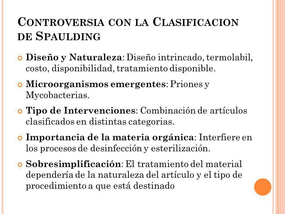NIVEL DE RESISTENCIA DE LOS MICROORGANISMOS Priones (Creutzfel Jacobs) Esporas Bacterianas (B.
