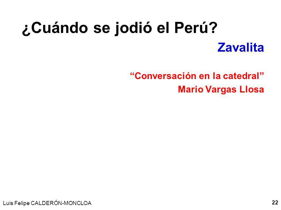 Luis Felipe CALDERÓN-MONCLOA 23 CEGUERA SELECTIVA Y ESQUIZOFRENIA y el rol de las Mentiras Fundacionales ¿Un paìs basado en la mentira.