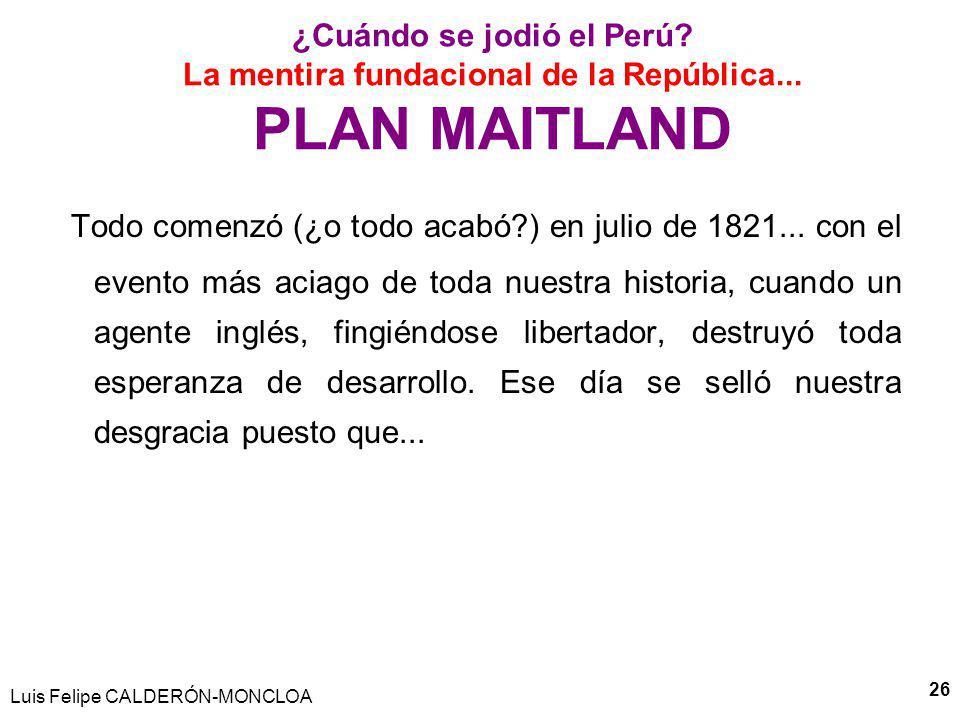 Luis Felipe CALDERÓN-MONCLOA 27 La mentira fundacional de la República...