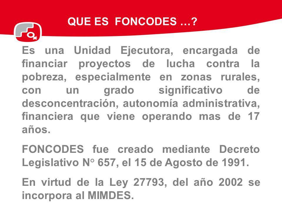 INVERSIÓN SEGÚN QUINTILES DE POBREZA: 1991- 2008 En los 17 años de vida del FONCODES, se ha financiado 55,148 pequeños proyectos de infraestructura social, económica y proyectos productivos.