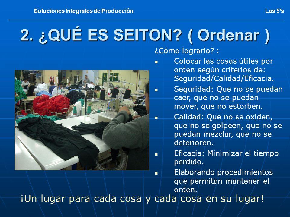 SITUACION INICIAL 3 Las 5sSoluciones Integrales de Producción