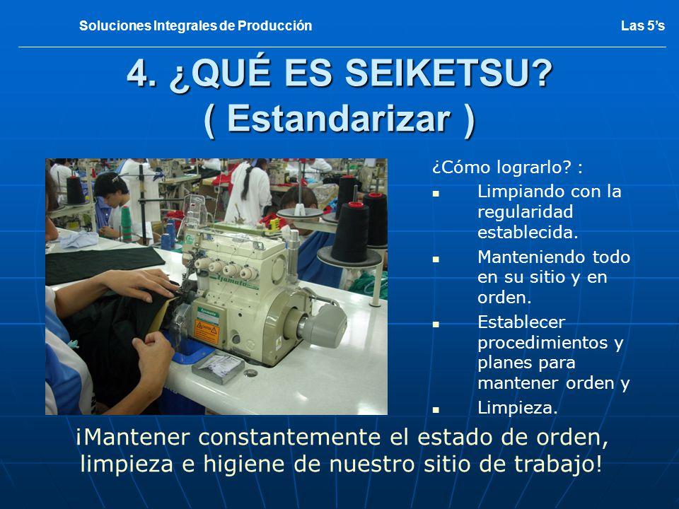 SITUACION INICIAL 5 Las 5sSoluciones Integrales de Producción