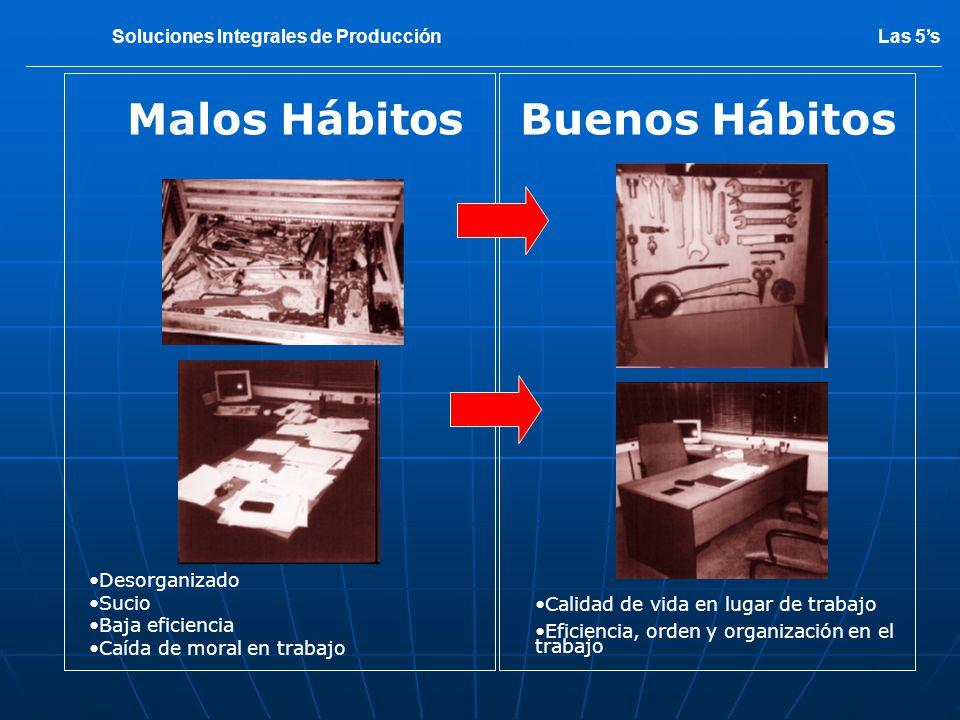 OBJETIVOS DE LAS 5S Mejorar el ambiente de trabajo, eliminación de despilfarros producidos.