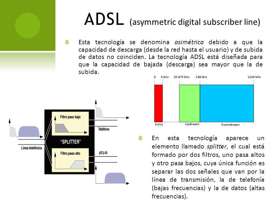 UDSL (universal ADSL) Es muy poco lo que se ha dicho con respecto a esta tecnología, pero cabe señalarla dentro de la clasificación de servicios que se ofrecen bajo la Red Digital de Servicios Integrados como una nueva tecnología basada en xDSL que permite alcanzar velocidades de transferencia de hasta 200 Mbps.