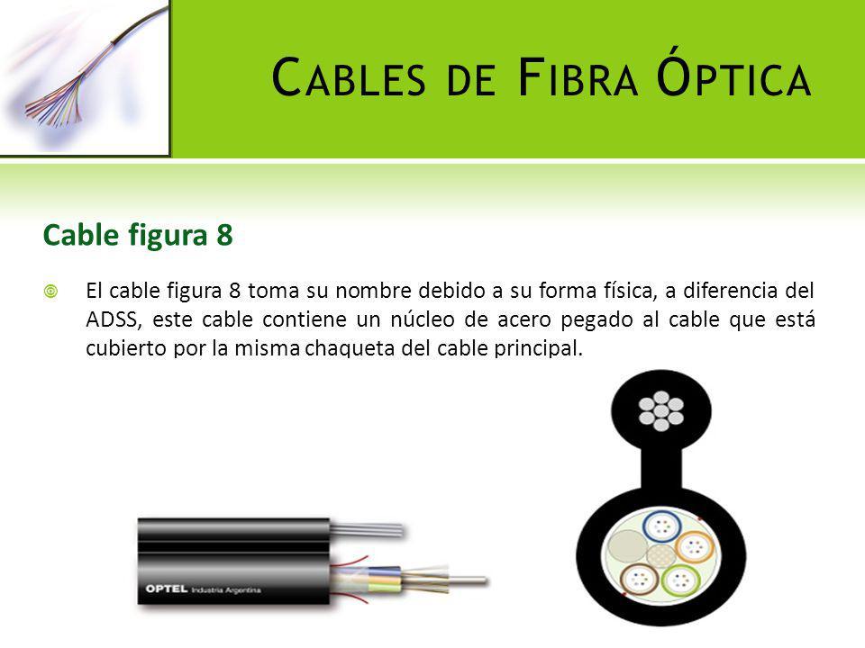 C ABLES DE F IBRA Ó PTICA Cables de uso específico Se ha denominado de esta manera a los cables utilizados en circunstancias acordes a sus características físicas, entre estos, dos tipos en particular: cables canalizados y cable plano.